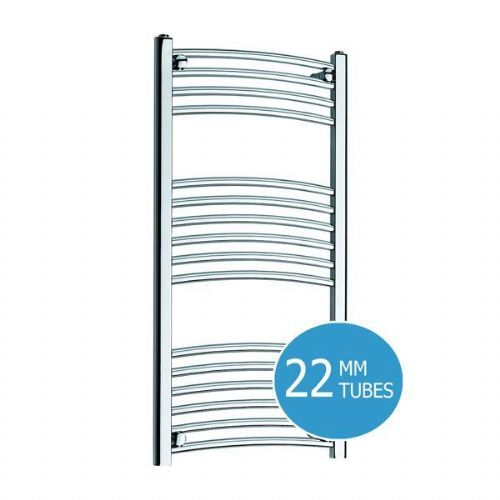 Kartell Curved Electric Towel Rail - 500mm x 1000mm Chrome